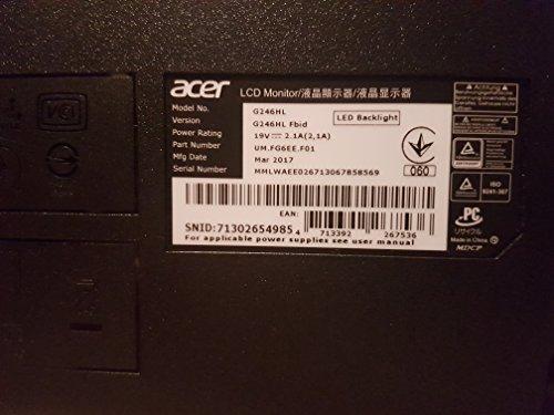Acer G246HLF – 24″- Widescreen Monitor - 6