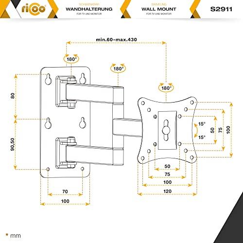 Ricoo S2911 Wandhalterung - 7