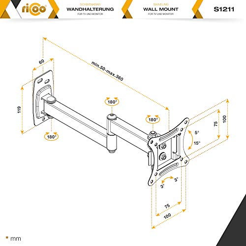 Ricoo S1211 Wandhalterung - 7