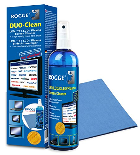 ROGGE - Bildschirmreiniger 250ml + Microfasertuch