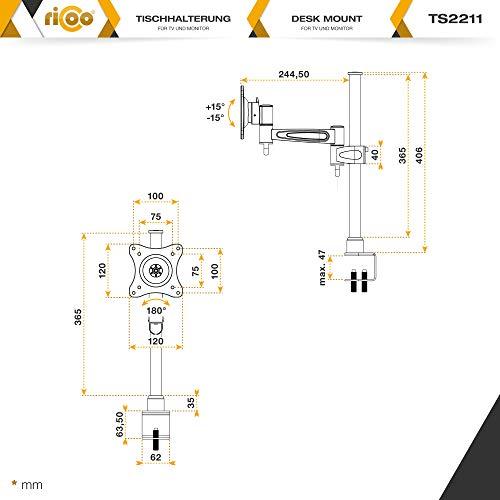Ricoo TS2211 Tischhalterung - 6