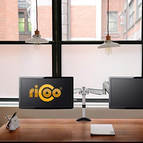Ricoo TS3111 Tischhalterung für 2 Monitore mit Gasdruckfedergelenk - 4