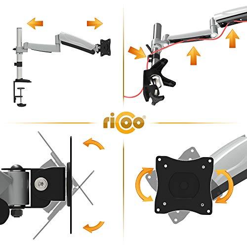 Ricoo TS3011 Tischhalterung mit Gasdruckfedergelenk - 4