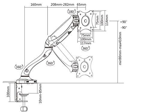 Maclean MC-673 Tischhalterung - 3