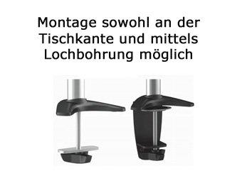 Tischhalterung für 2 Monitore bis 27 Zoll - 4