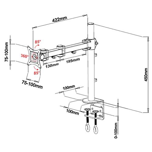 LCD 352S Tischhalterung weiß - 3