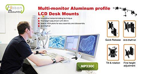 HFTEK MP230C-L2 Tischhalterung fuer 3 Monitore - 2