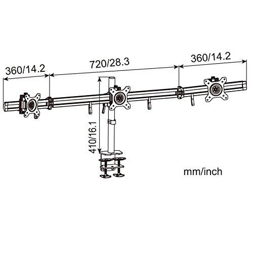 HFTEK MP230C-L2 Tischhalterung fuer 3 Monitore - 3