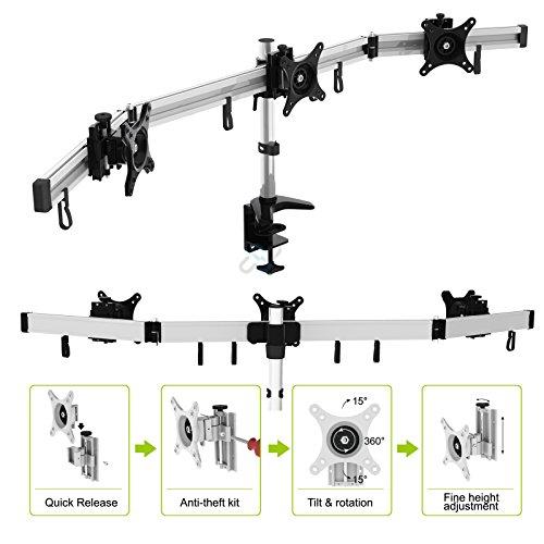 HFTEK MP230C-L2 Tischhalterung fuer 3 Monitore - 4
