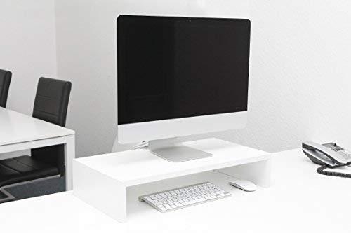 Design Monitorständer weiß