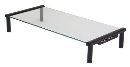 Kit Fernsehtisch, Laptop, PC Monitor Tisch Ständer mit USB Anschlüssen - Schwarz