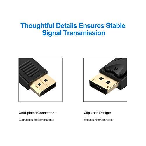 DisplayPort Kabel, Rankie 1.8m Vergoldet Ultra HD 1080p DisplayPort(DP) zu DisplayPort(DP) Kabel 4K-Auflösung Bereit Cable - 3