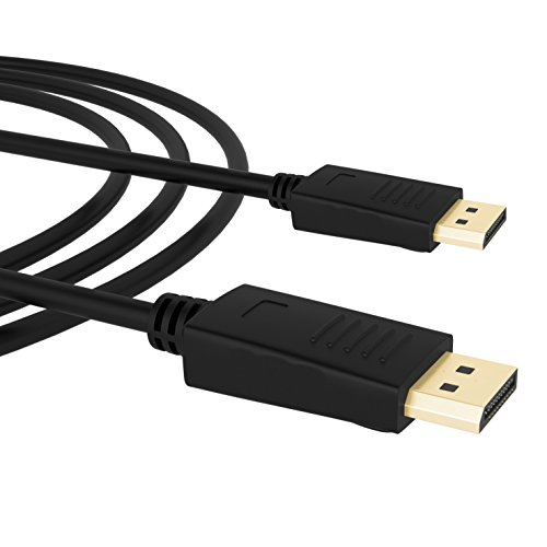 DisplayPort auf DisplayPort,Splaks 2m Vergoldete Full HD 1080P DisplayPort DP auf zu DisplayPort DP Kabel Adapter Konventer Cabel für Grafikkarten / PC und Apple – DP Male to DP Male - 3