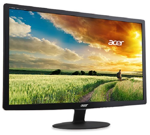 Acer S240HLBID 61cm (24 Zoll) Monitor (VGA, DVI, HDMI, 5ms Reaktionszeit, EEK A) schwarz -